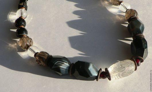 Комплекты украшений ручной работы. Ярмарка Мастеров - ручная работа. Купить Дом Ледяного дракона. Бусы и серьги.. Handmade. фэнтези