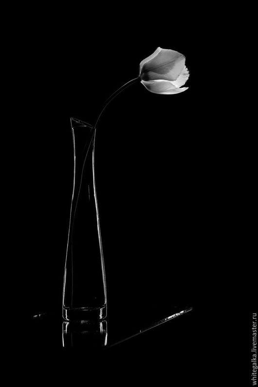 Фотокартины ручной работы. Ярмарка Мастеров - ручная работа. Купить графика (ваза цветок). Handmade. Черный, фотокартина, Фотокартина цветы