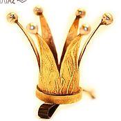 """Украшения ручной работы. Ярмарка Мастеров - ручная работа """"Старая Золотая Корона"""" Заколка для волос (невидимка). Handmade."""
