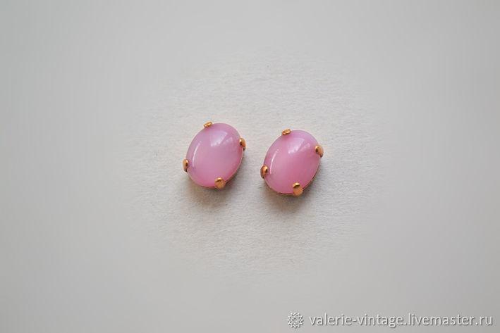 Vintage rhinestones 10h8mm. color Rose Moonstone, Crystals, Moscow,  Фото №1