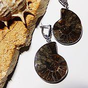 Украшения handmade. Livemaster - original item Earrings Ancient ocean Ammonites. Handmade.