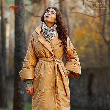 """Одежда ручной работы. Ярмарка Мастеров - ручная работа Пуховик,пальто """"Миндальный  коктейль"""". Handmade."""