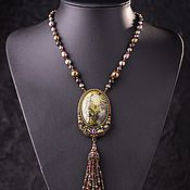 "Украшения handmade. Livemaster - original item Pendant with lacer miniature ""Enchantment"". Handmade."