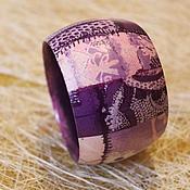 """Украшения ручной работы. Ярмарка Мастеров - ручная работа """"Фиолетовый лоскутик"""". Handmade."""