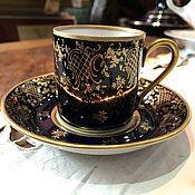 Винтаж handmade. Livemaster - original item Coffee pair, Reichenbach, cobalt, 1970-80. Handmade.