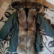 Одежда ручной работы. Ярмарка Мастеров - ручная работа Парка зима с мехом енота. Handmade.