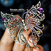 "Украшения ручной работы. Ярмарка Мастеров - ручная работа ""My lovely Butterfly"" Серебряная брошь. Handmade."