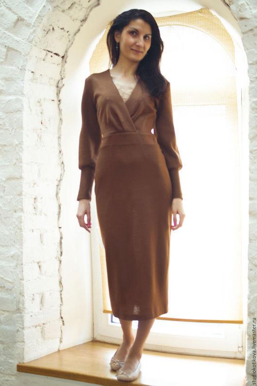"""Платья ручной работы. Ярмарка Мастеров - ручная работа. Купить Платье """"Загадка"""". Handmade. Коричневый, платье, дизайнерская одежда, Сборка"""