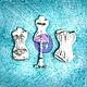 Открытки и скрапбукинг ручной работы. Ярмарка Мастеров - ручная работа. Купить Шебби-фигурки  Манекены. Handmade. Украшения, prima, маникен