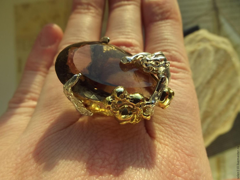 Кольца с камнем ручной работы