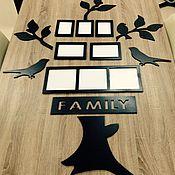 """Подарки ручной работы. Ярмарка Мастеров - ручная работа Пано на стену """"family"""" (птички и веточки) № 2, 1,40Х 90 см. Handmade."""
