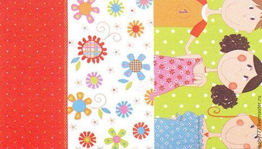 Шитье ручной работы. Ярмарка Мастеров - ручная работа. Купить Ткань для пэчворка ДЕТИ. Handmade. Оранжевый, ткань для детской