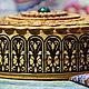 Шкатулки ручной работы. Заказать Шкатулка из бересты прорезная круглая с камнем малахит. Подарки на все случаи жизни (beresta-ural). Ярмарка Мастеров.