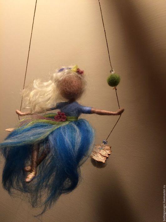 """Коллекционные куклы ручной работы. Ярмарка Мастеров - ручная работа. Купить Валяние Фея """"Унесенная ветром"""". Handmade. Голубой"""