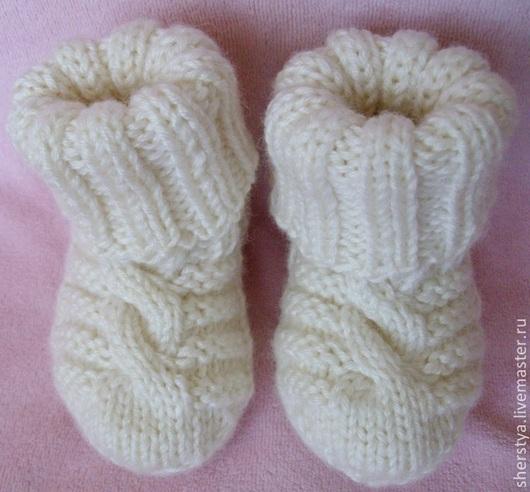 Для новорожденных, ручной работы. Ярмарка Мастеров - ручная работа. Купить Первые носочки, пинетки. Handmade. Пинетки, пинетки для новорожденных