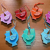 Подарки к праздникам ручной работы. Ярмарка Мастеров - ручная работа Петушок на ёлку. Handmade.