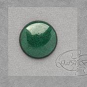 Материалы для творчества ручной работы. Ярмарка Мастеров - ручная работа Кабошон зелёный жад круглый 474. Handmade.