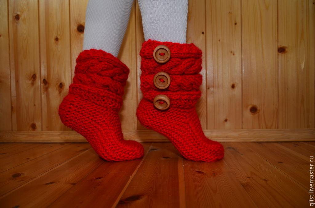 Вязание носков как сапожки 673
