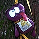 """Рюкзаки ручной работы. Ярмарка Мастеров - ручная работа. Купить """"Кот Саймона""""-рюкзачок для планшета. Handmade. Фиолетовый, чехол для планшета"""