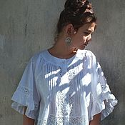 """Одежда ручной работы. Ярмарка Мастеров - ручная работа Бохо-блуза """"Адель"""". Handmade."""