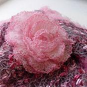 Аксессуары handmade. Livemaster - original item Shawl-Bacchus and brooch-rose