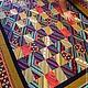 """Текстиль, ковры ручной работы. Ярмарка Мастеров - ручная работа. Купить """"Путь воина"""" Лоскутное  одеяло для путешествий. Handmade. Лада"""