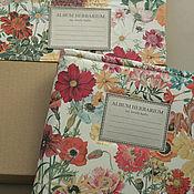Канцелярские товары handmade. Livemaster - original item Album secret garden herbarium (A4, 15 plants). Handmade.