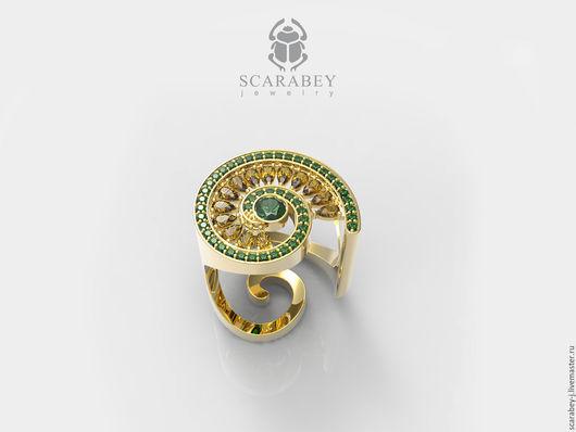 """Кольца ручной работы. Ярмарка Мастеров - ручная работа. Купить Кольцо """"Спираль"""" из золота. Handmade. Золотой, дизайнерское кольцо"""