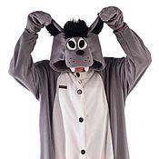 Одежда handmade. Livemaster - original item Wolf Kigurumi - Custom Handmade - Anti-pill Fleece Pyjamas. Handmade.