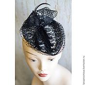 Аксессуары handmade. Livemaster - original item Evening hat with veil. Handmade.