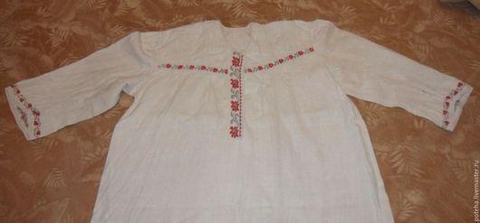 Одежда. Ярмарка Мастеров - ручная работа. Купить Старинная женская рубашка из домоткани.. Handmade. Белый, славянский стиль, домоткань