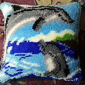 Для дома и интерьера ручной работы. Ярмарка Мастеров - ручная работа подушки выполнены в ковровой технике. Handmade.
