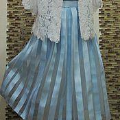 """Одежда ручной работы. Ярмарка Мастеров - ручная работа Авторская юбка """"Blue Ice"""". Handmade."""