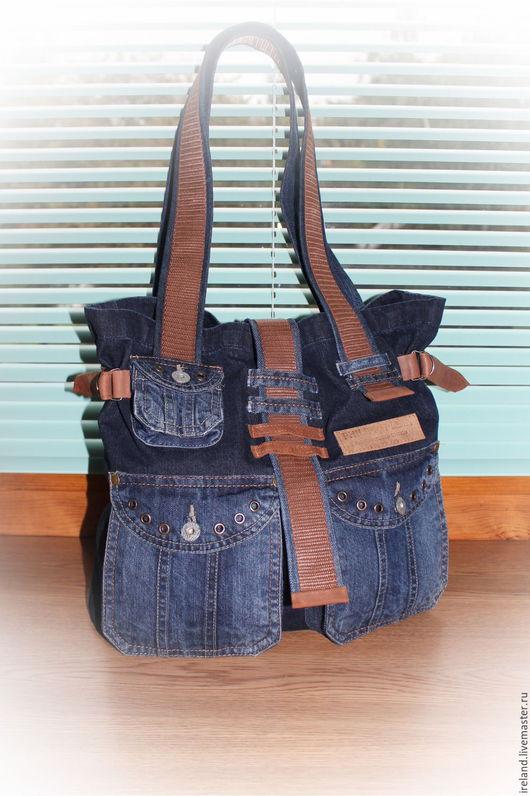 Женские сумки ручной работы. Ярмарка Мастеров - ручная работа. Купить Джинсовая сумка 32/09. Handmade. Комбинированный, джинсовая сумка
