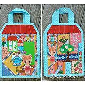 Doll houses handmade. Livemaster - original item Bag-house of dolls. Handmade.