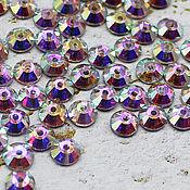 Материалы для творчества handmade. Livemaster - original item Crystals: Rhinestones-sequins crystal AB 5h5 mm sewn 10 PCs. Handmade.