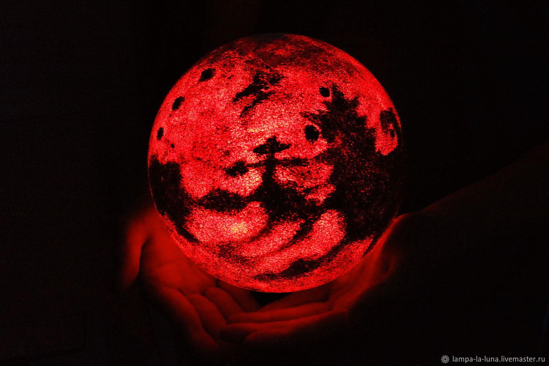 Ночник Марс, Светильник Марс, Диаметр 20 см, Ночники, Санкт-Петербург,  Фото №1
