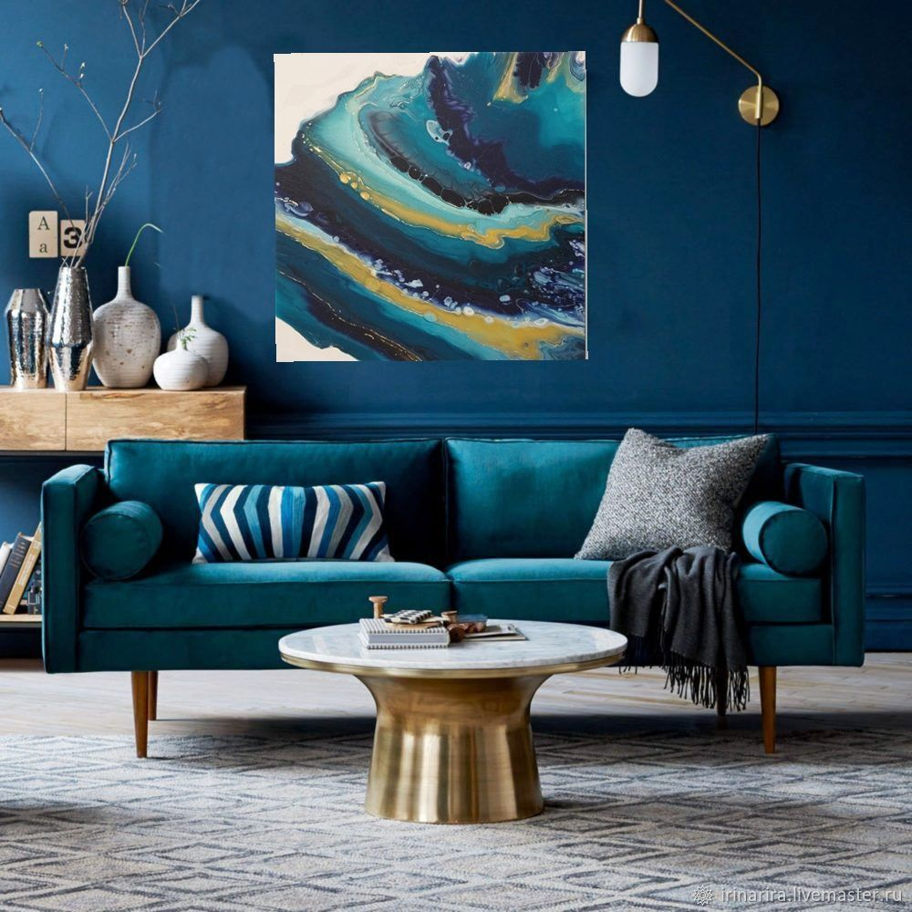 Ocean Of Well-Being. interior painting. abstraction, Pictures, Moscow,  Фото №1