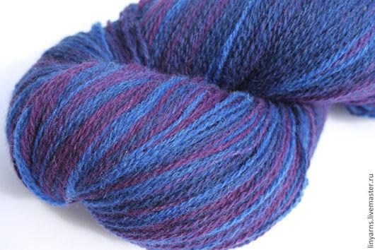 Вязание ручной работы. Ярмарка Мастеров - ручная работа. Купить KAUNI Artistic Yarn Blue Lila 8/2. Handmade. Кауни