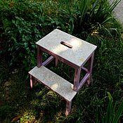 Для дома и интерьера ручной работы. Ярмарка Мастеров - ручная работа Табурет-стремянка - декупаж для дома дачи интерьер. Handmade.