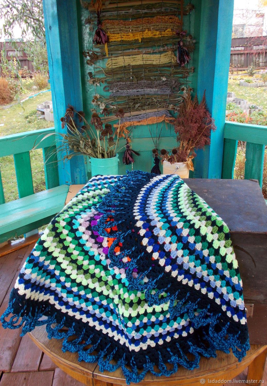 Текстиль, ковры ручной работы. Ярмарка Мастеров - ручная работа. Купить Ковер-половик радужный круглый вязаный крючком. Handmade.