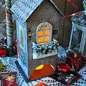 """Для дома и интерьера ручной работы. Ярмарка Мастеров - ручная работа """"Новогодний"""" чайный домик. Handmade."""
