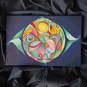 """Картины и панно ручной работы. Ярмарка Мастеров - ручная работа картина маслом  """"Луна"""". Handmade."""