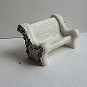 Материалы для творчества ручной работы. Ярмарка Мастеров - ручная работа Скамейка миниатюра. Handmade.
