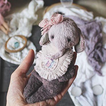 Куклы и игрушки ручной работы. Ярмарка Мастеров - ручная работа Слонёнок. Тедди примитив. Тедди слон. Handmade.