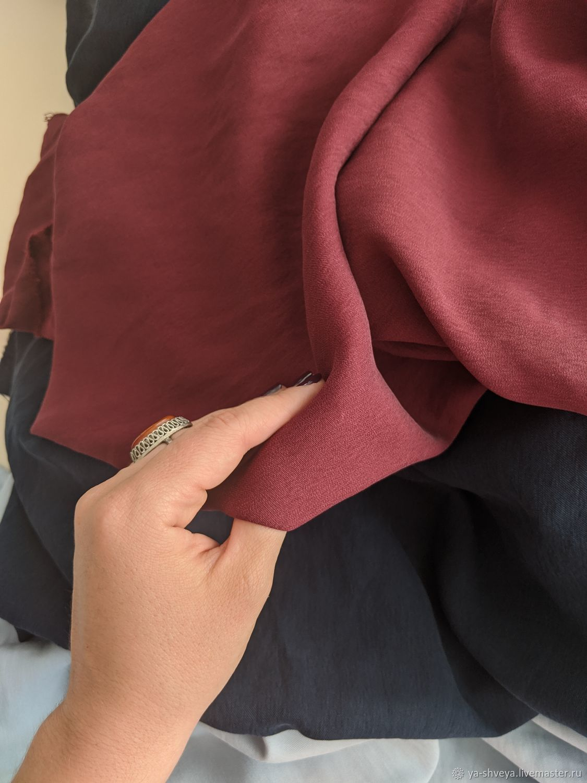 PLAIN linen-Safari-BURGUNDY, Fabric, Moscow,  Фото №1