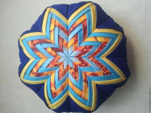 Текстиль, ковры ручной работы. Ярмарка Мастеров - ручная работа. Купить Подушка декоративная. Handmade. Тёмно-синий, хлопок 100%