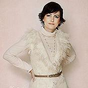 Одежда handmade. Livemaster - original item Felted vest ivory color