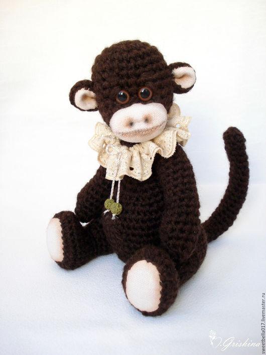 Игрушки животные, ручной работы. Ярмарка Мастеров - ручная работа. Купить Вязаная обезьянка. Handmade. Коричневый, обезьяна крючком, миништоф