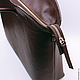 Дизайнерская кожаная сумка Pattern Chocolate